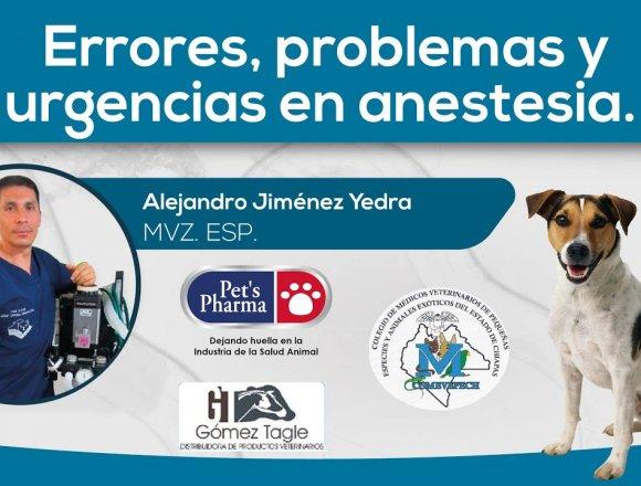 Errores, problemas y urgencias en anestesia.